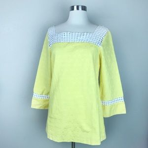 Lily Pulitzer  Women's Yellow Bees Knees Tunic Top